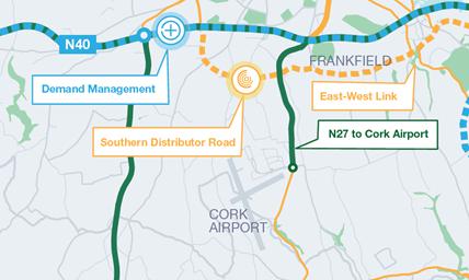 Map of Cork Sourthern Distributor Link Road
